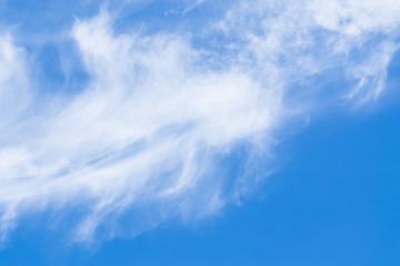 Romantic summer blue sky, free landscape.
