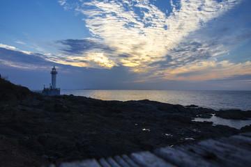 Lighthouse, South Korea during sunset
