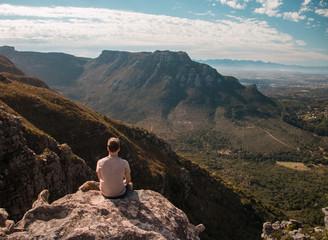 Hiker on Table Mountain Fototapete