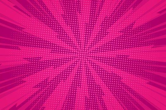 Comic dynamic pink background