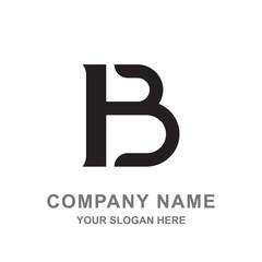 Simple Black Letter B Logo Vector Business Illustration