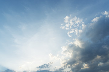 Blue sky with clouds background  photo stock
