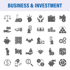 Business And Investment Set Of Vector Icons