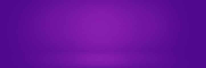 dark violet studio background banner, gradient wall backdrop