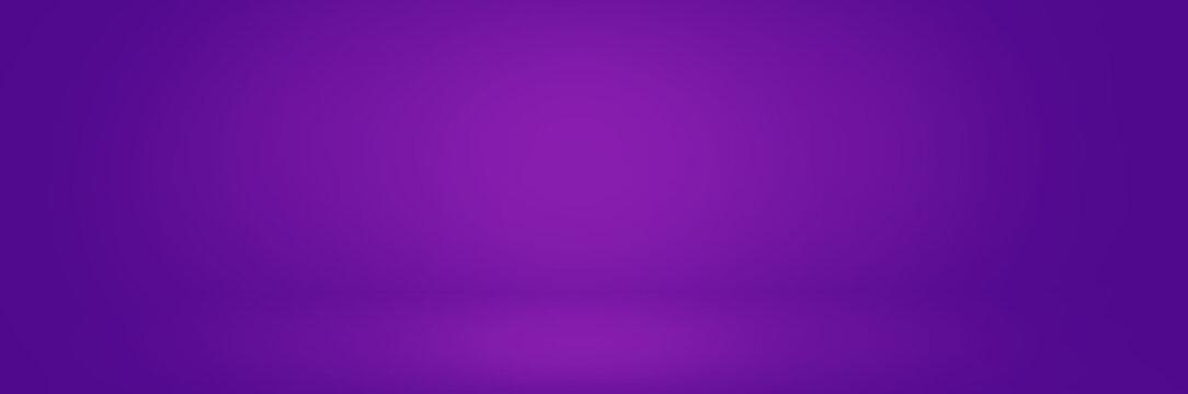 dark violet studio background banner, gradient wall backdrop