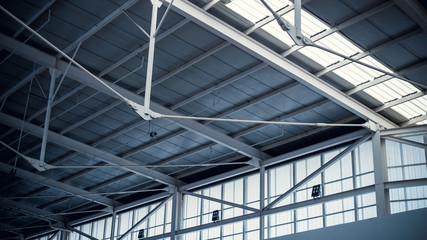 silver foil and roof steel structure