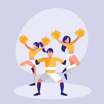 goalkeeper football and women cheerleader