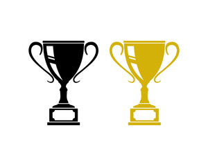 Championship Trophy in the Competition Sign Symbol Icon Logo Vector