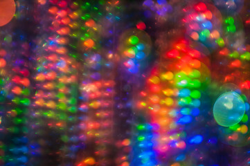 Light painting abstract background. Light painting photography, long exposure, bokeh against a black background. Blurred. Disco motion background.