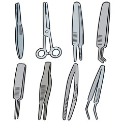 vector set of forceps