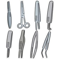vector set of forceps