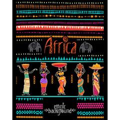 Ethnic geometric background. Design for poster, card, invitation