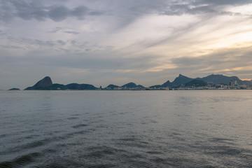 Rio de Janeiro skyline view from Guanabara bay with Sugar Loaf and Corcovado Mountains - Rio de Janeiro, Brazil
