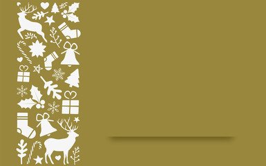 christmas card template with free space for your own text