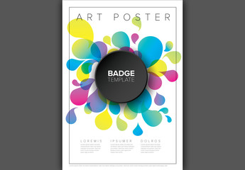Poster Layout with Droplet Elements