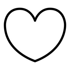 Heart line icon. Love illustration isolated on white. Passion outline style design, designed for web and app. Eps 10.