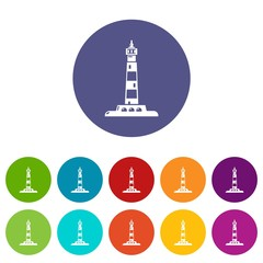 Ocean lighthouse icon. Simple illustration of ocean lighthouse vector icon for web