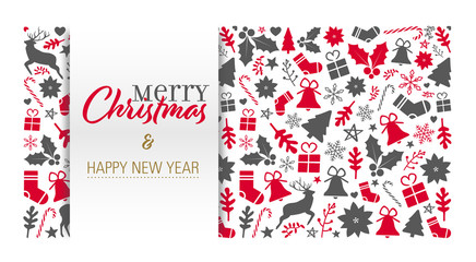 christmas card with calligraphic greeting text