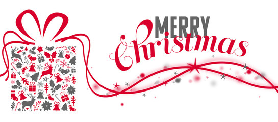christmas greeting card with glimmer and a greeting text