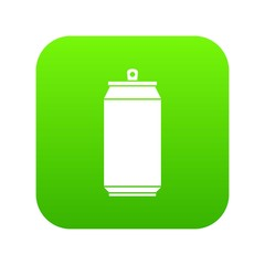 Can icon digital green for any design isolated on white vector illustration