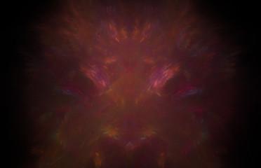 Red fractal glowing pattern. Fantasy fractal texture. Digital art. 3D rendering. Computer generated image.
