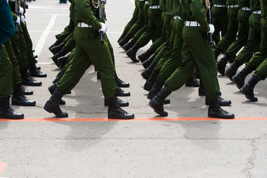 The parade of soldiers