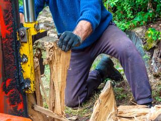 Fire wood and log splitter hydraulic machine