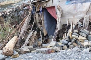 homeless hut