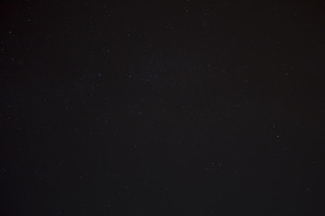 Cluster of constellations in the night sky