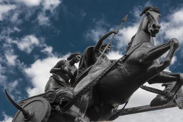 Bronze Chariot Statue