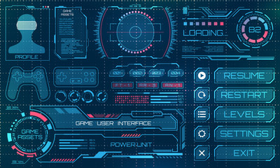 HUD User Interface, GUI, Futuristic Panel with Infographic Elements