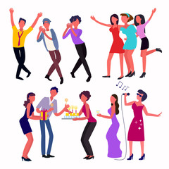 Young people dancing in a club and celebrating important events in their lives