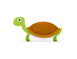 Happy Turtle Illustration