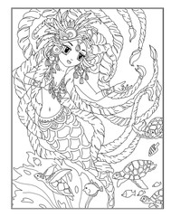 Coloring page The Mermaid