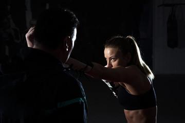 Kickboxing female training Wall mural