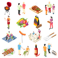 Barbecue Products Icon Set