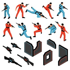 Laser Tag Isometric Set