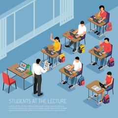 Higher Education Isometric Illustration