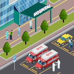 Isometric Hospital Neighbourhood Composition