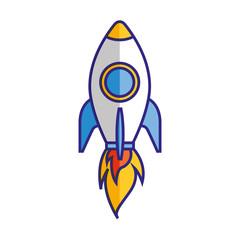 rocket launching startup isolated image