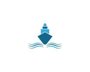 Cruise ship logo icon
