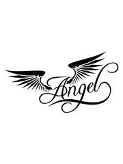 tattoo flügel design angel shirt spruch engel liebe verliebt paar pärchen freund freundin mann frau himmel beste clipart