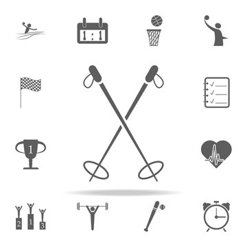 ski poles icon. Sport icons universal set for web and mobile