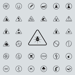 sign dangerous UV icon. Warning signs icons universal set for web and mobile