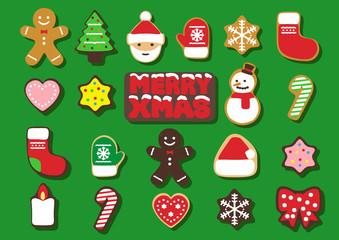 クリスマス クッキー ベクター