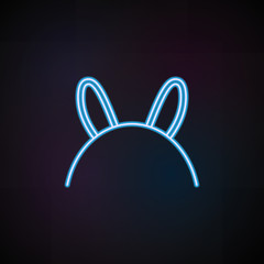 hairband icon in neon style. One of Woman Accessories collection icon can be used for UI, UX
