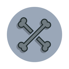 bones icon in badge style. One of web collection icon can be used for UI, UX