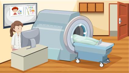 MRI scan at hospital