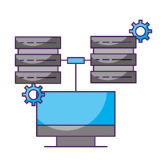 computer connected two database server data storage