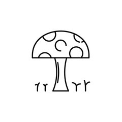 mushroom icon. Element of Pakistan culture for mobile concept and web apps illustration. Thin line icon for website design and development, app development